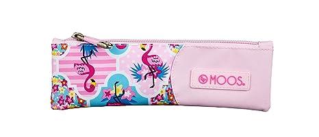 Moos Flamingo Pink Oficial Estuche Escolar 200x60mm: Amazon ...