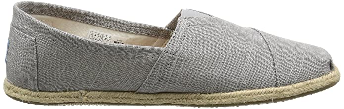 Amazon.com: TOMS 10008381 Mens Classics Linen Rope-Sole Slip-On, Grey Linen, 8 D(M) US: Toms: Shoes