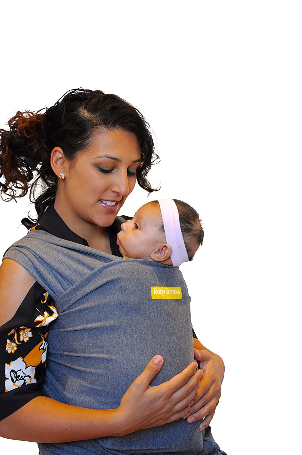404d3de9668 Baby Booboo Sling Wrap - Soft Baby Sling Carrier - Plus Size - Soft Newborn  Ergo Carrier - Great Premium Baby Shower Gift (Charcoal Grey Large)  ...