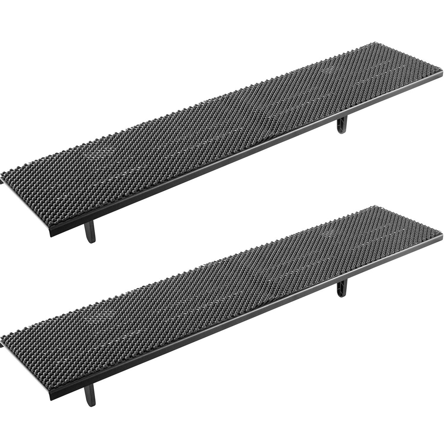 WALI TV Top Shelf 23.6 Inch Flat Panel for Streaming Devices, Media Boxes, Speakers and Home Decor (TSH002-2), 2 Pack, Black