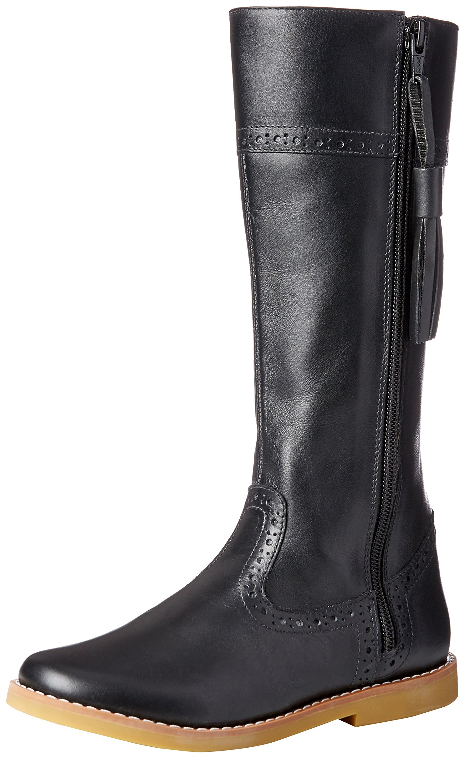 Elephantito Girls' Riding Fashion Boot, Black, 9 M US Toddler