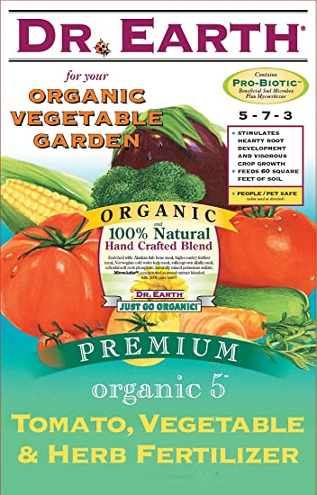 Dr. Earth 711 Organic 5 Tomato Vegetable Herb Fertilizer, 12 Pound