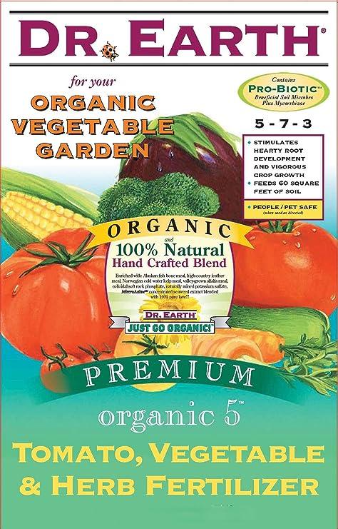 Amazoncom Dr Earth 711 Organic 5 Tomato Vegetable Herb