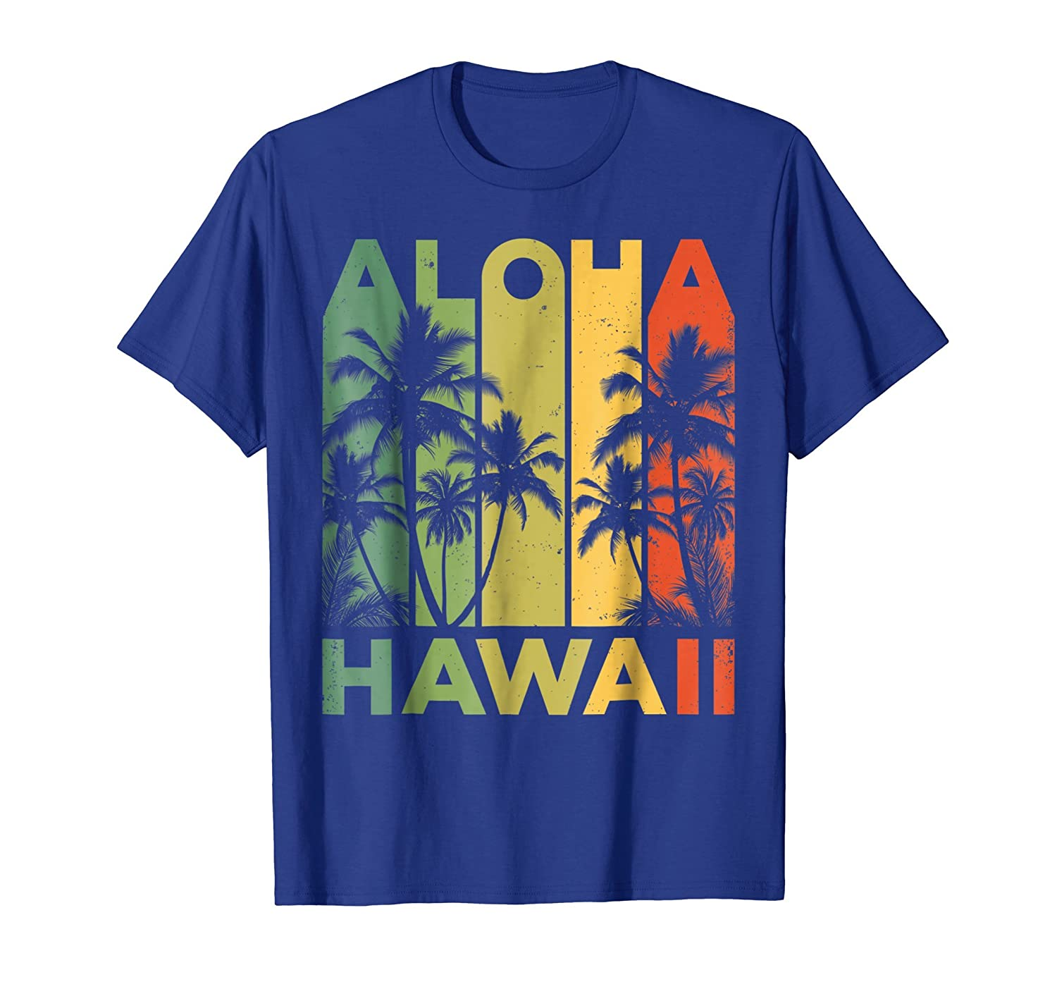 Aloha Hawaii Hawaiian Island T shirt Vintage 1980s Throwback-fa