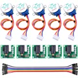 Longruner 5X Geared Stepper Motor 28byj 48 Uln2003 5v Stepper Motor Uln2003 Driver Board Compatible with ArduinoIDE (with Wir