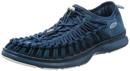 KEEN Mens Uneek o2-m Sandal Majolica Blue/Legion Blue 7 M US