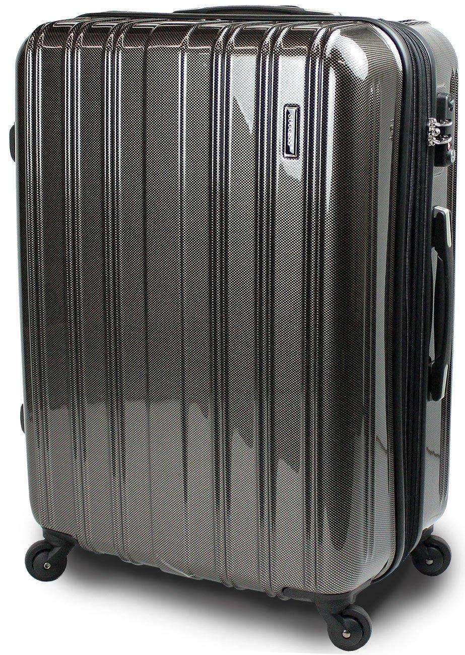 【新品アウトレット商品】 【SUCCESS サクセス】 スーツケース 3サイズ( 大型  ジャスト型  中型 ) TSAロック 搭載 超軽量 レグノライト2020~ ミラー加工 キャリーバッグ … B07BSC4PM9 大型 Lサイズ 76cm|カーボンブラック カーボンブラック 大型 Lサイズ 76cm