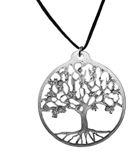 product image for From War to Peace Tree of Life Silver-Dipped Pendant Necklace on Adjustable Natural Fiber Cord
