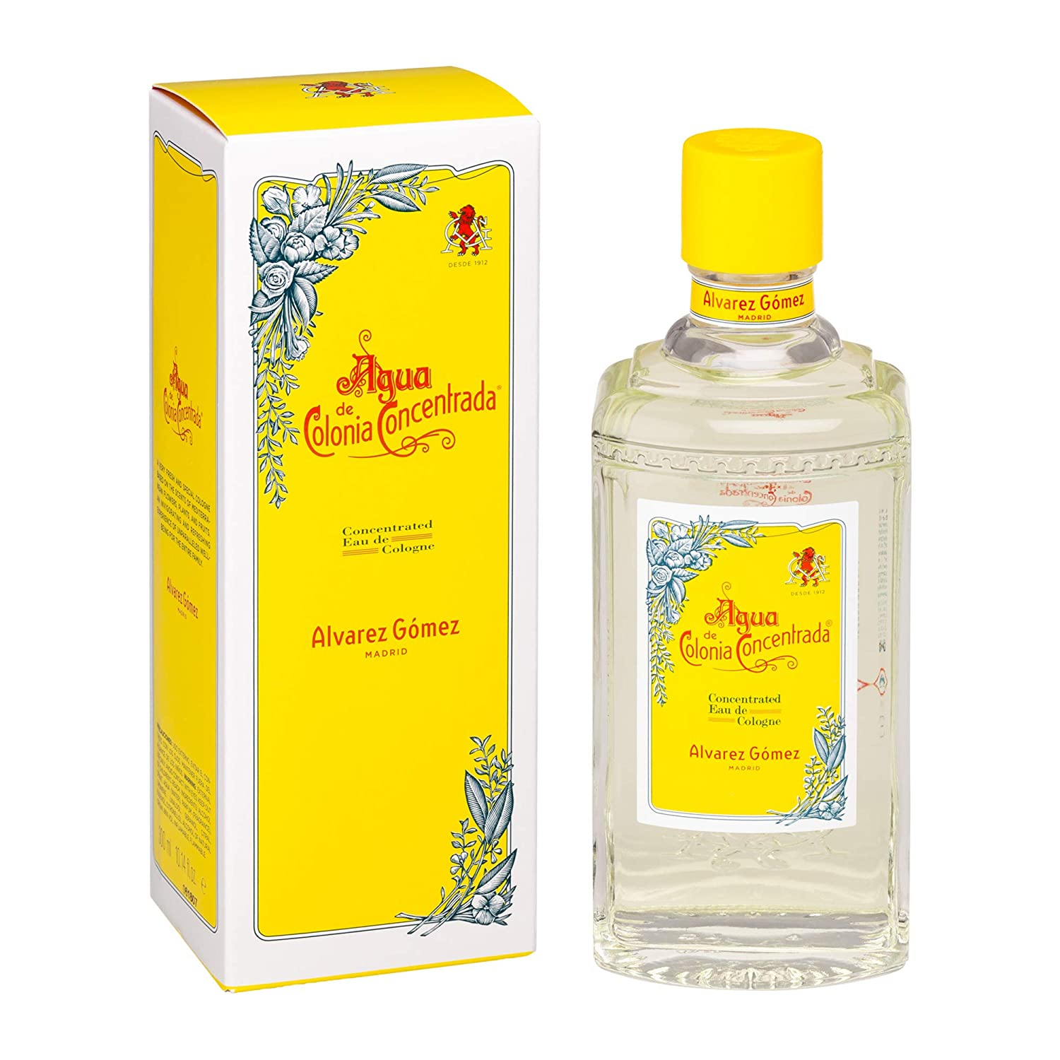 Amazon.com : Alvarez Gomez Agua de Colonia Concentrada Eau de Cologne Splash, 10.14 Ounce : Beauty