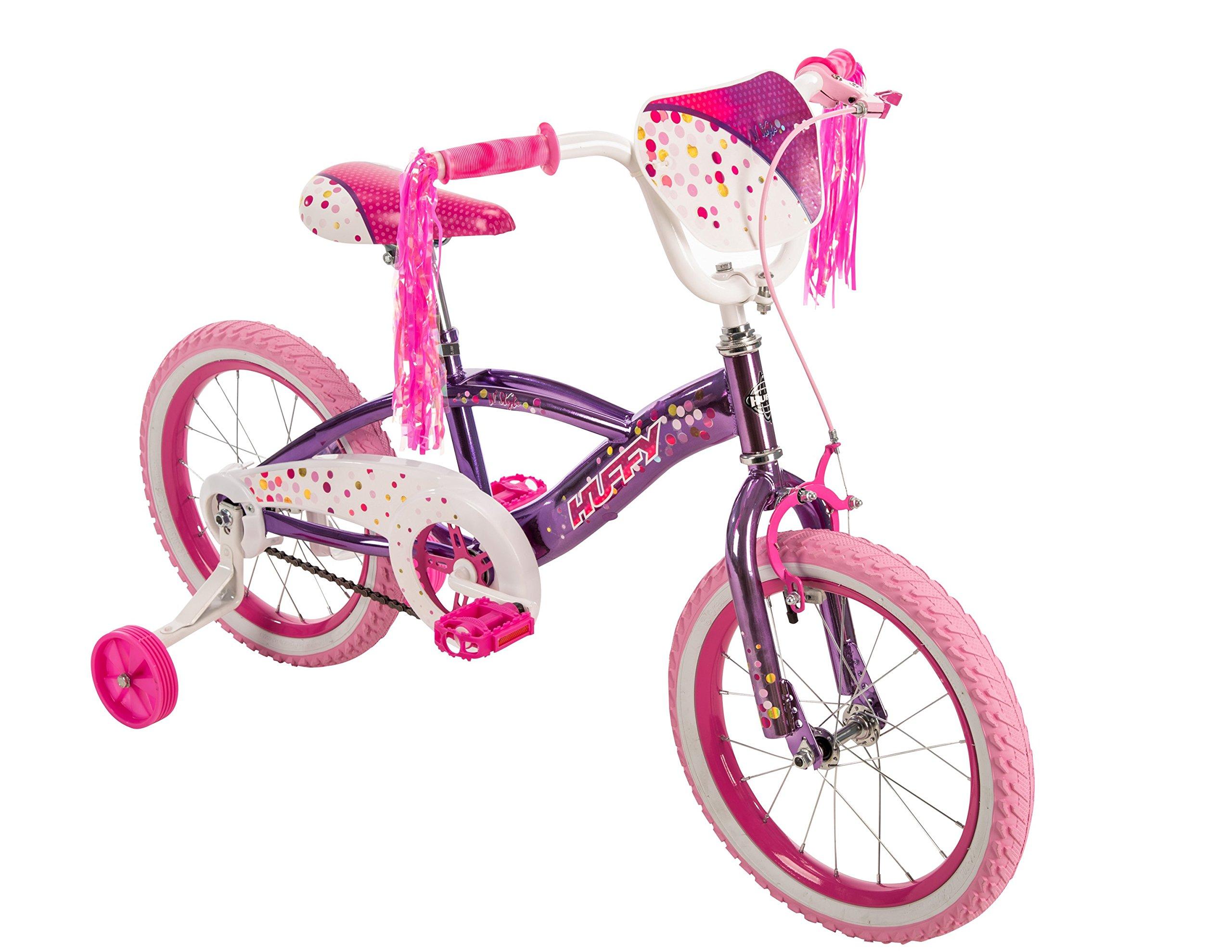 16'' Huffy N'Style Girls' Bike, Pink/Purple
