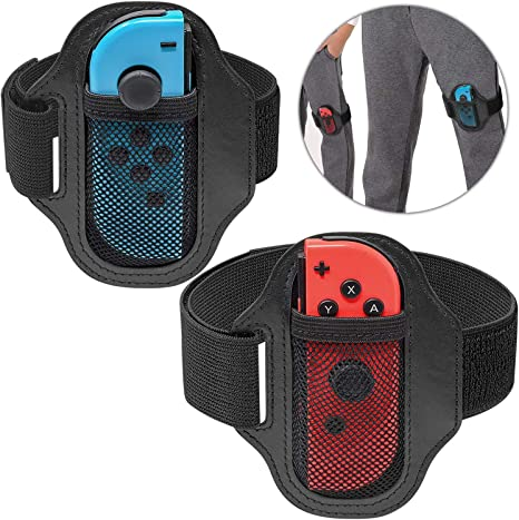 2 Piezas] Correa de Pierna Compatible con Nintendo Switch Ring Fit Adventure Game, Ajustable Banda Elástica de Movimiento Deportivo para Joy-Con: Amazon.es: Videojuegos