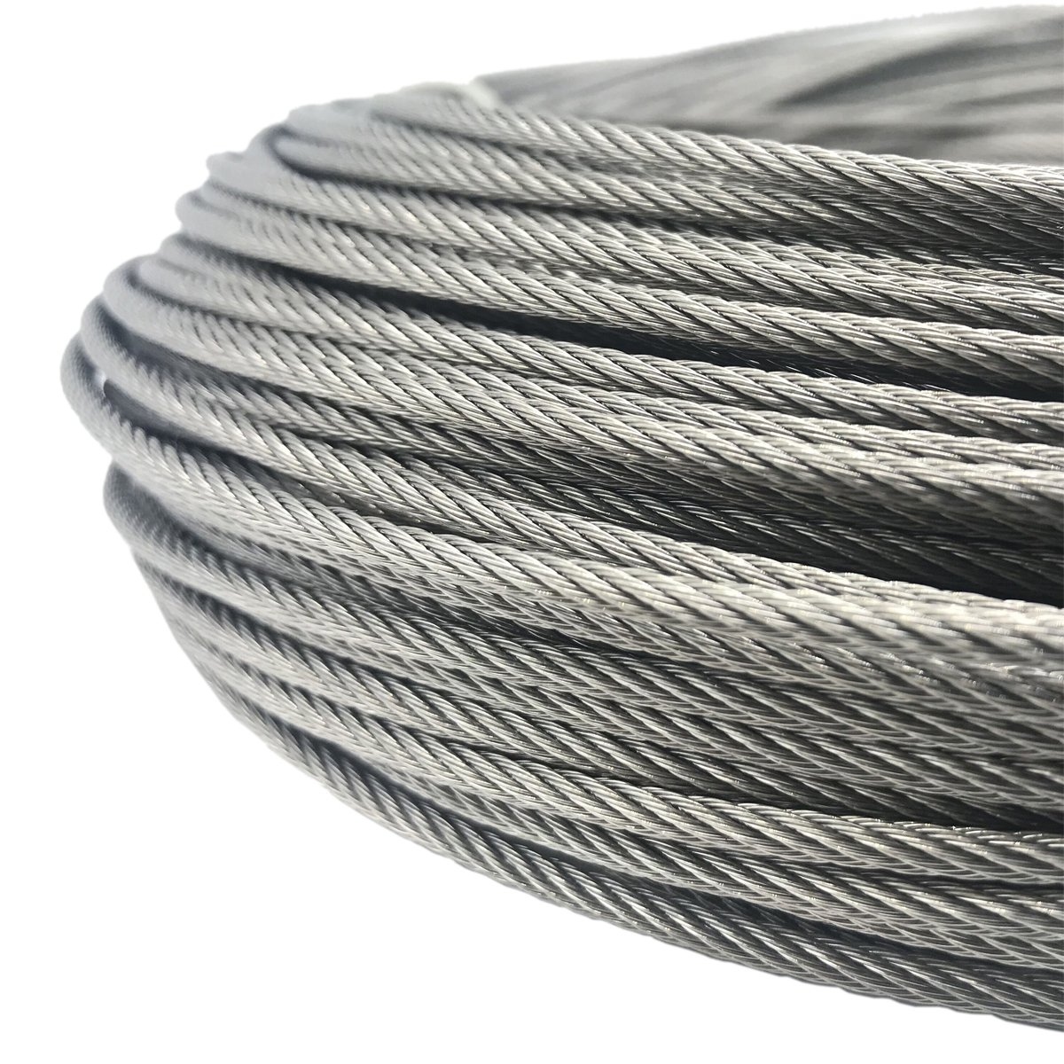 Senmit 1 8 Stainless Steel Aircraft Wire Rope for Deck Cable Railing Kit 7x7 200Feet T316 Marin Grade