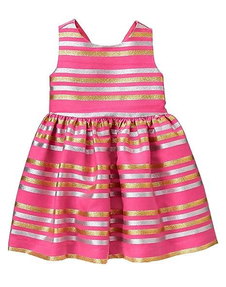 e8d075157039 Amazon.com: Gymboree Baby Girls' Toddler Lurex Dress, Cookie Pink ...