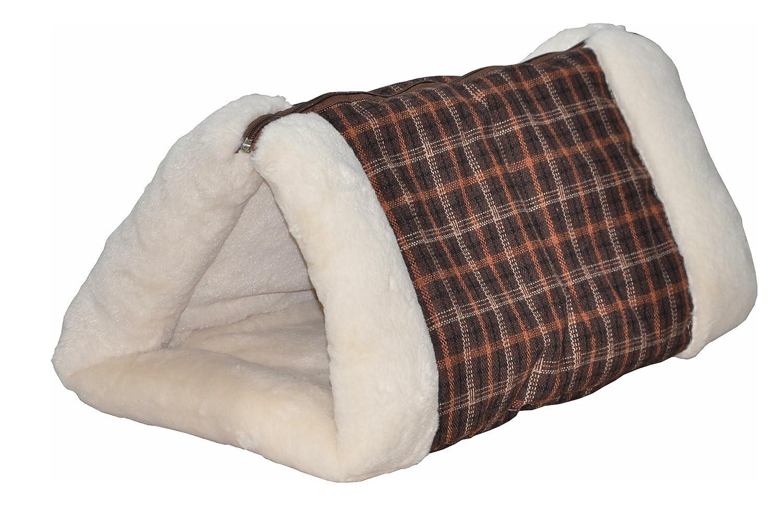 nanook Milo - Katzentunnel braun beige - Spieltunnel und Plüschdecke in einem - waschbar (Handwäsche)