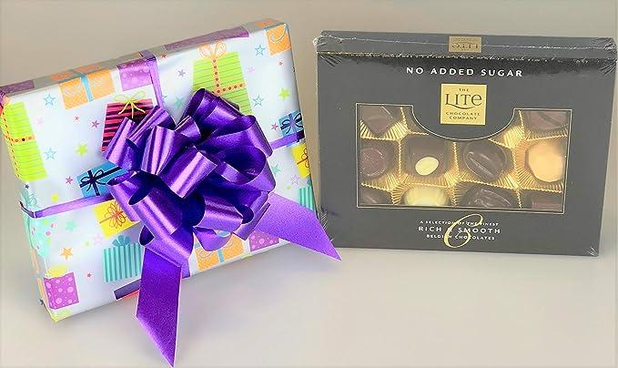 Belgian Lite Chocolates caja sin azúcar añadido envuelto regalo diabético – regalo único para su cumpleaños: Amazon.es: Alimentación y bebidas