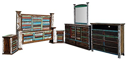 Amazon Com Hi End Multicolor Tall Cabana Style Distressed Rustic
