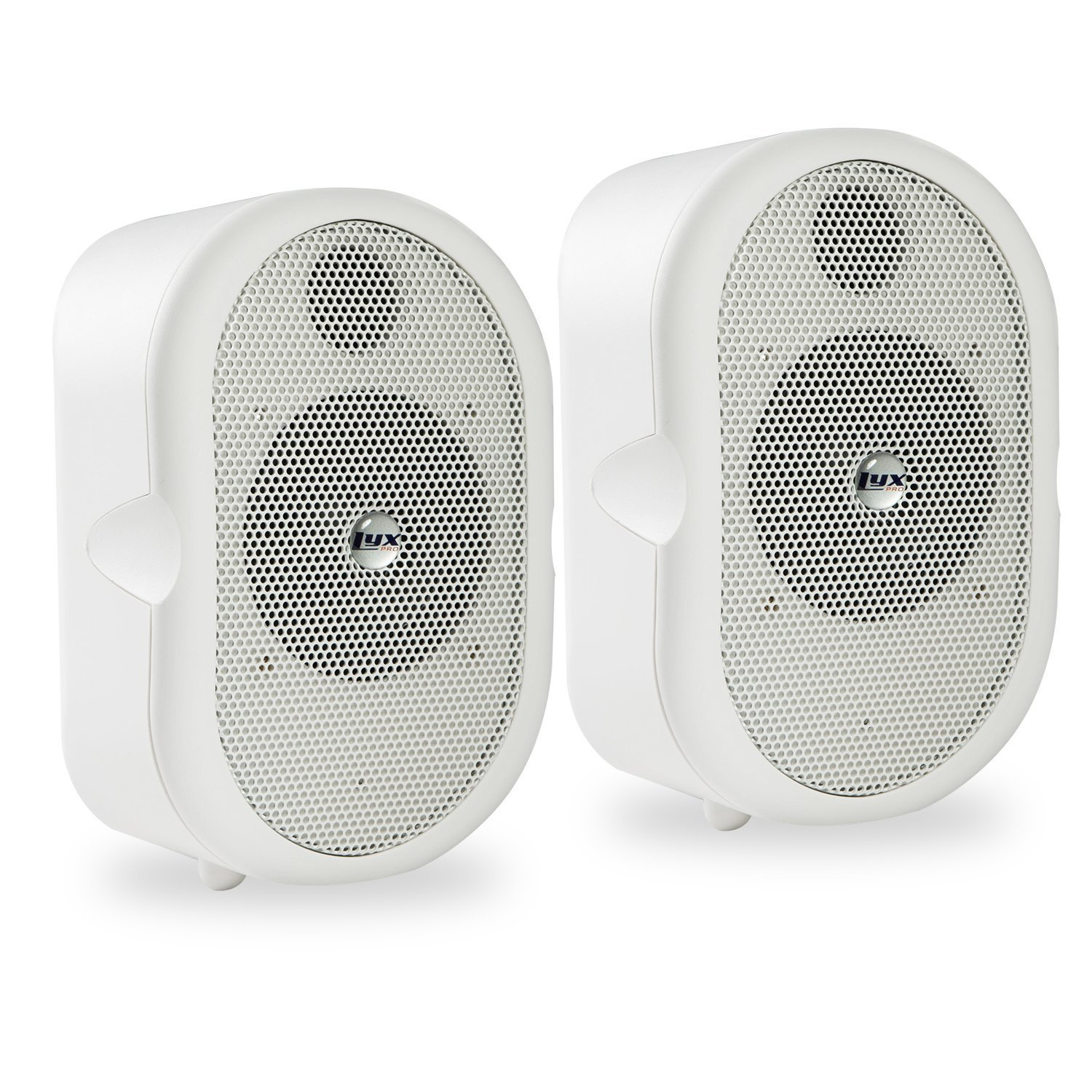 LyxPro MSW-3 Pair of Mini Bluetooth 40-Watt Active Speaker for Indoor Restaurants, Shops, Exhibitions, Multimedia, Home Recording & Audio/Video Production - White