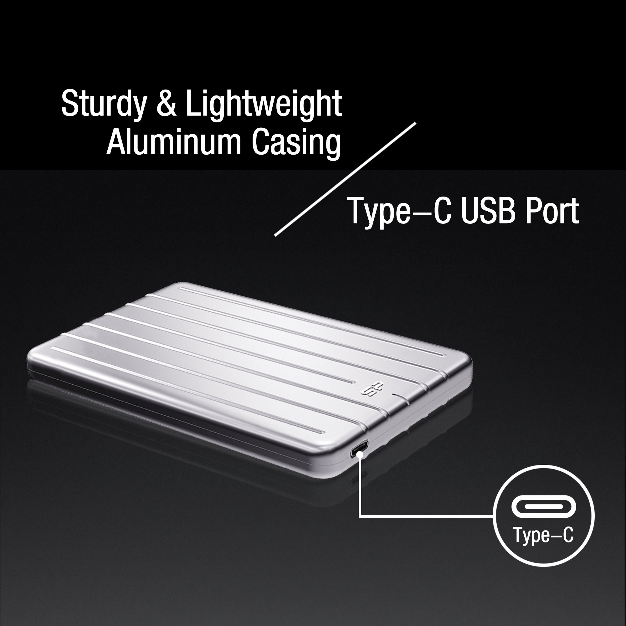 Silicon Power SU010TBPHDA75S3SAE 1TB Ultra Slim Rugged Armor A75 Shockproof USB 3.0 (USB 3.1 Gen 1) 2.5'' Portable External Hard Drive, Silver by Silicon Power (Image #4)
