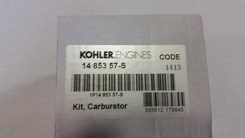 Amazon.com: KOHLER 14 853 57-S COMPLETE CARBURETOR WITH GASKETS ...