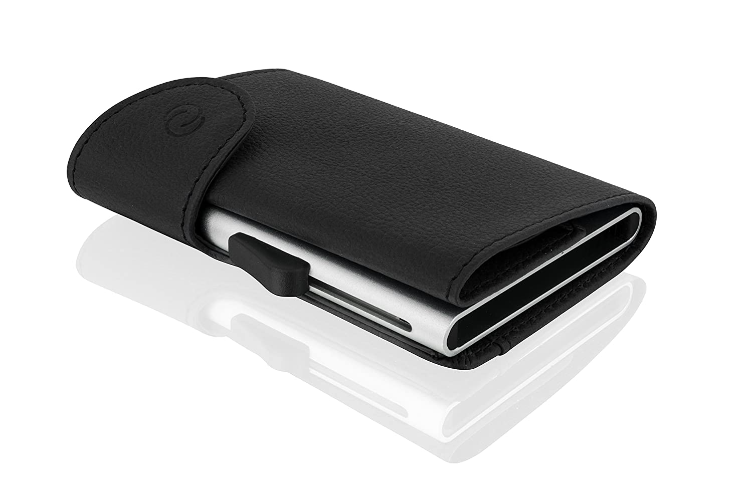 C-Secure Cardholder Wallet Leather (Black)