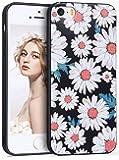 iPhone5s ケース,Imikoko iPhone5 ケース iPhone SE ケース おしゃれ かわいい 人気 花柄 花 美しい TPUケース ソフトケース 浮き彫り 上絵 薄型 耐衝撃 アップル アイフォン5/5s/SE4.0インチ用 (iPhone5/5s/SE, キク)