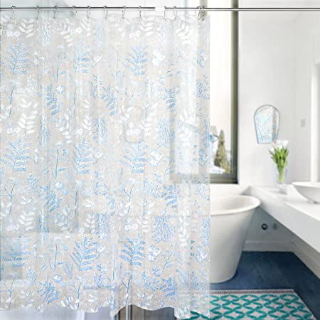 Carttiya Bathroom Shower Curtain, EVA Shower Curtains 180 x 180 cm ...