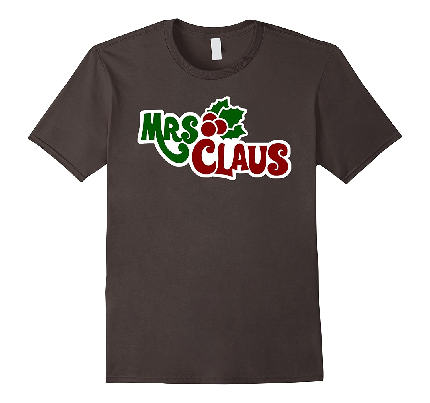 Claus Matching Couple Dark Grey Shirts And Mrs Details about  /Mr