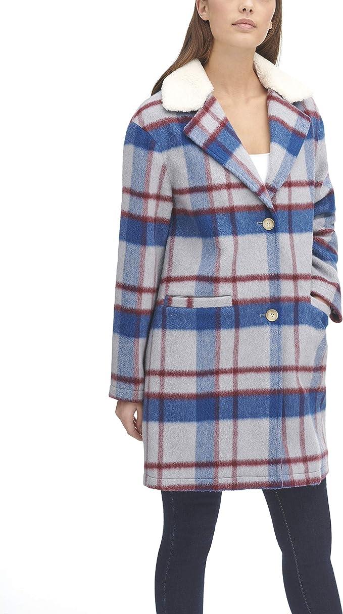 Levi's 李维斯 女式格纹大衣 L码2.2折$32.7 海淘转运到手约¥352