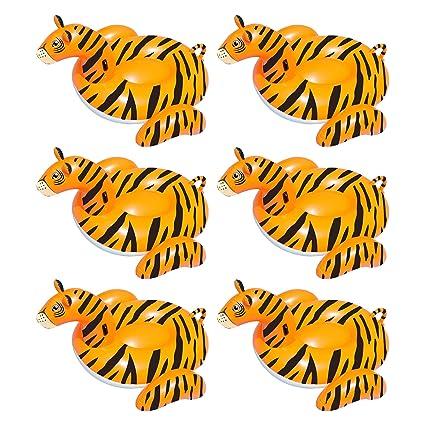 Amazon.com: Swimline Serie Safari Tiger - Tumbona hinchable ...
