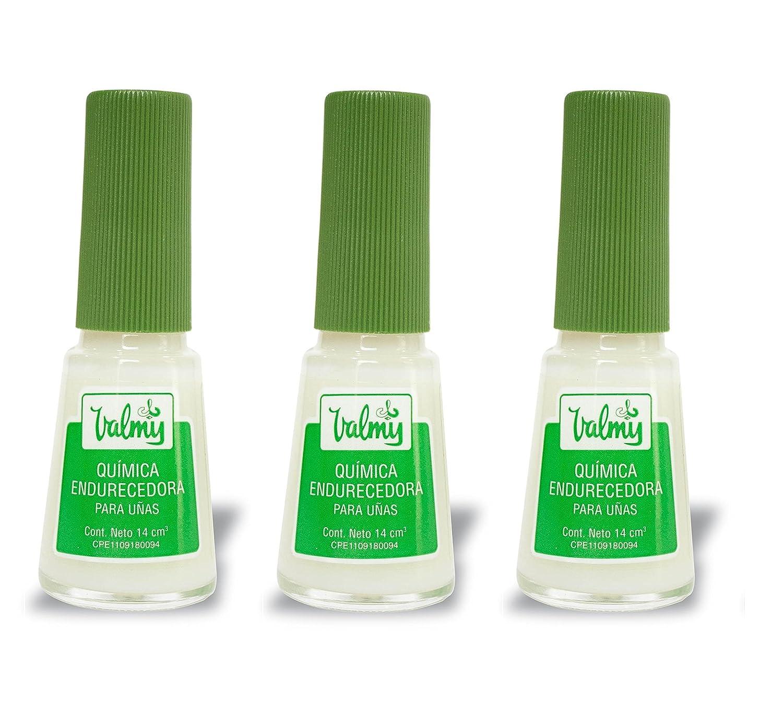 Endurecedor de uñas Valmy Química Endurecedora - Tratamiento fortalecedor y protector para uñas extra fuertes - Pack of 2-14 ml c/u Drocosca