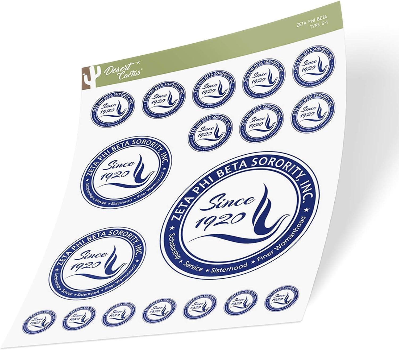 Zeta Phi Beta Sticker Vinyl Decal Laptop Water Bottle Car Scrapbook (Sheet Type 3-1 Seal)