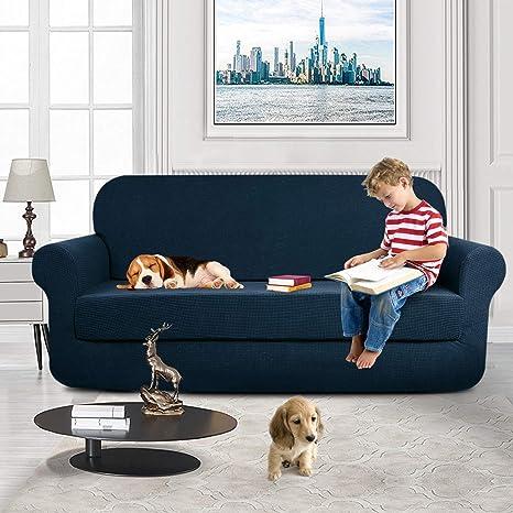 KOBWA Lujo Cubre para Silla Fundas de Sofa Protector de sofá o sillón, Funda de Sofá Antideslizante Anti-Sucio para Mascotas Protector de Sofá ...
