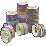 Asian Hobby Crafts Printed Gift Wrapping Tapes (30 Rolls)
