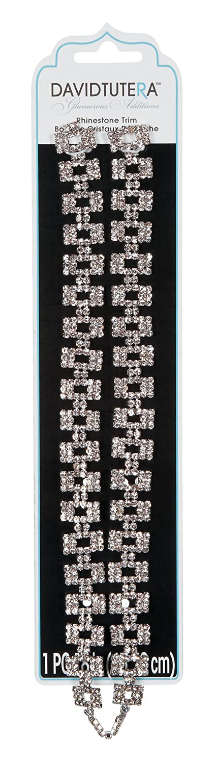 David Tutera Rhinestone Block Trim - 18 inches by Darice   B00IYQ35HC