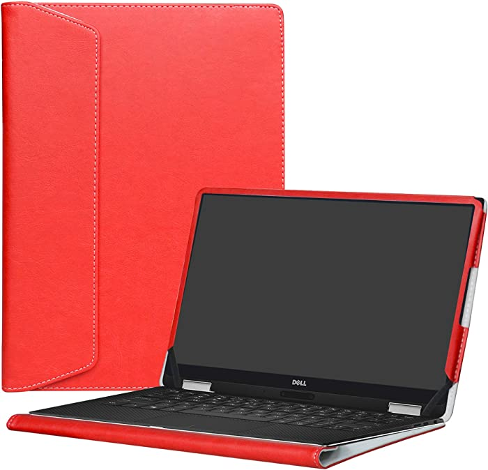 """Alapmk Protective Case Cover For 13.3"""" Dell XPS 13 9370 9360 9350 9343/XPS 13 2 in 1 9365 Laptop[Note:Not fit xps 13 7390 9380 9333 L321X/XPS 13 2 in 1 7390],Red"""