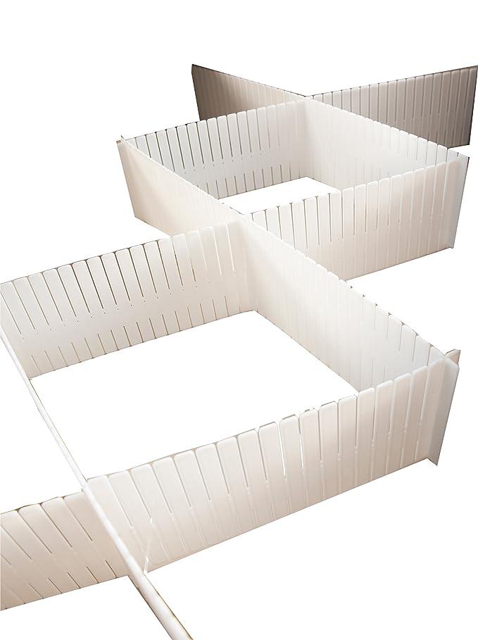 Compactor Home RAN5191 Organisateur de Tiroir Polypropylène Rigide Blanc Lot de 6 Plaques 44 x 44 x 10 cm