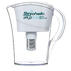 Seychelle pH2O Alkaline Water Filter Pitcher