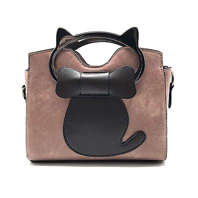 81180b6c7155 EPLAZA Women Girls Cat Top Handle Handbags Small Shoulder Bags Cross Body  Purse Satchel (M