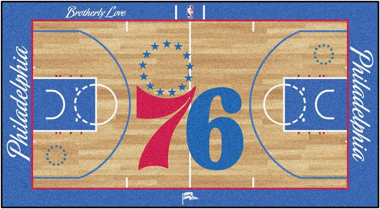 FANMATS - 9501 NBA Philadelphia 76ers Nylon Face NBA Court Runner-Small
