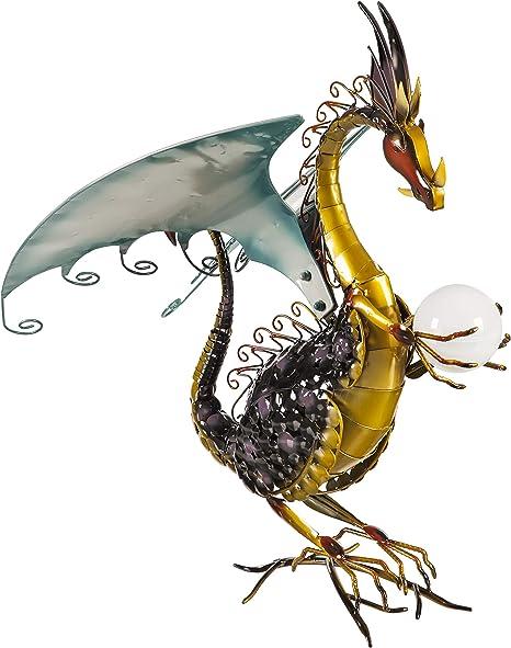 Amazon Com Wind Weather Dragon Garden Sculpture With Solar