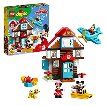LEGO 10889 DUPLO Disney Mickey's Vacation House Toy, Building Set for  Toddlers 2 Years Old with Mickey Mouse, Minnie Mouse, Goofy and Pluto  Figures