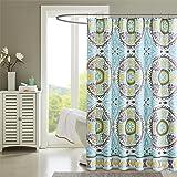 """Madison Park MP70-1921 Samara Shower Curtain 72x72"""" Aqua,72x72"""""""