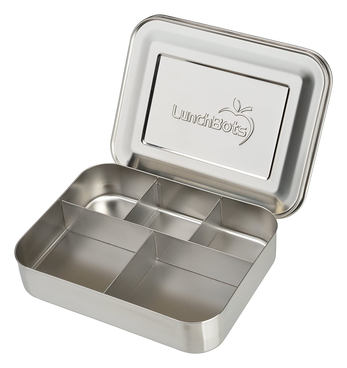 Metal Lunch Tin Part - 40: ... Cinco Large Stainless Steel Food Container - Five Section Design Holds  A Well-Balanced Variety Of Foods - Eco-Friendly Bento Lunch Box -  Dishwasher Safe ...