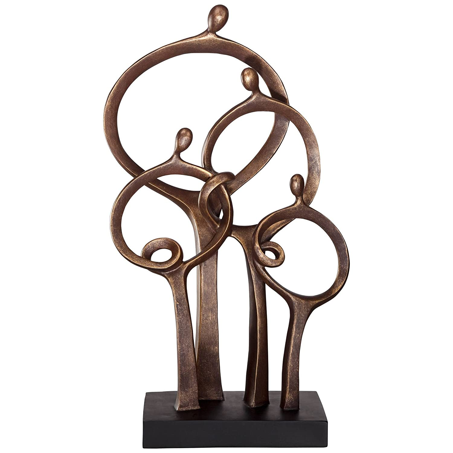 "Kensington Hill Abstract Family 19 1/4"" High Bronze Sculpture"