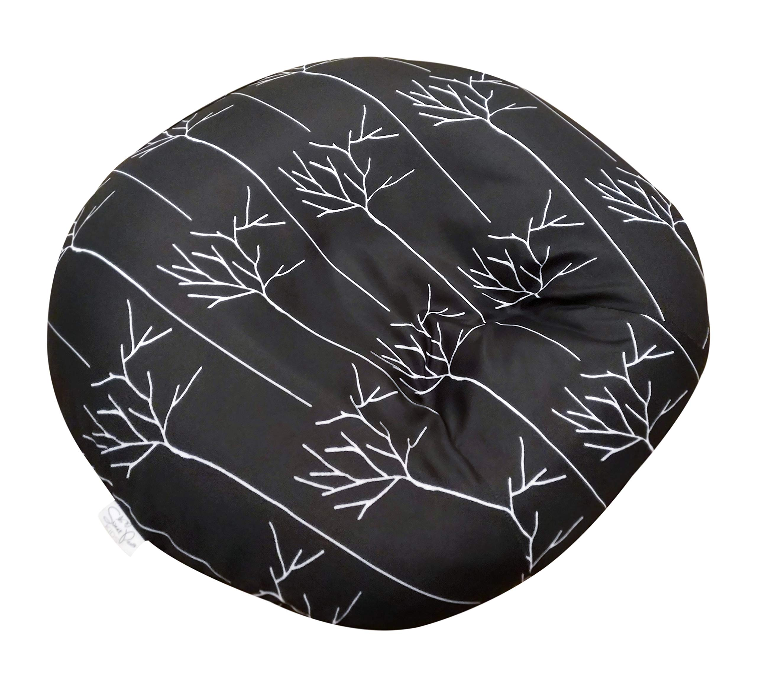 Newborn Lounger Cover Designer Look | Black Branches | Water Resistant | Removable & Washable | Premium Soft Quality | Fits Boppy Infant Lounger Pillow not Included | Great Baby Shower Gift by Sweet Pea Kids