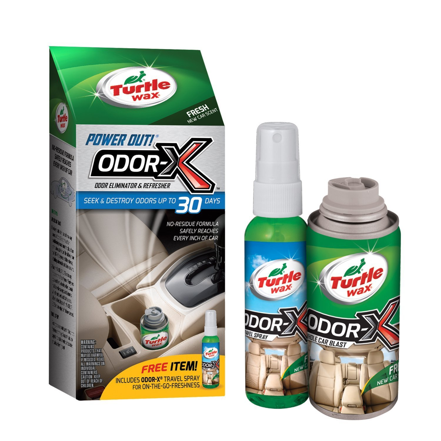 Turtle Wax 50653-6PK Power Out! Odor-X Whole Car Blast Kit, Pack of 6, 2.52 Fluid_Ounces, 6 Pack
