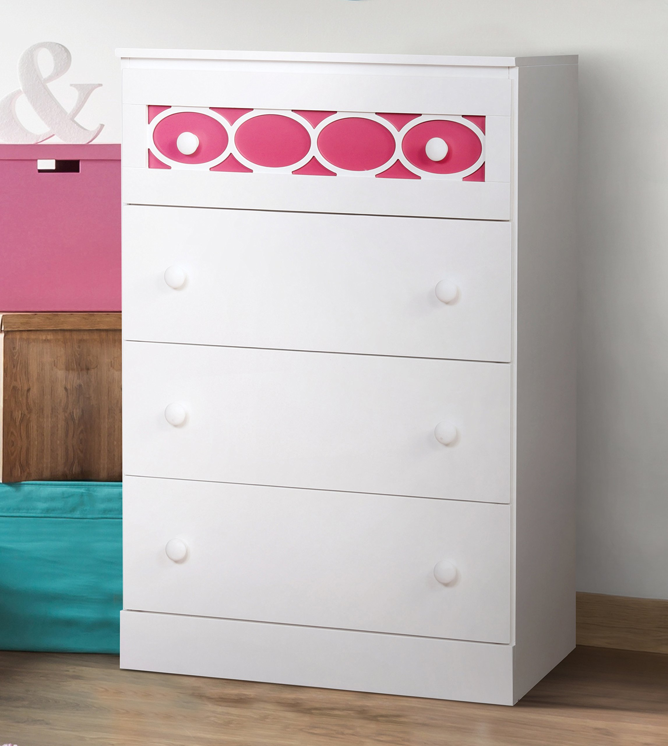 HOMES: Inside + Out IDF-7853PK-C Roka Chest Contemporary, Pink by HOMES: Inside + Out (Image #2)