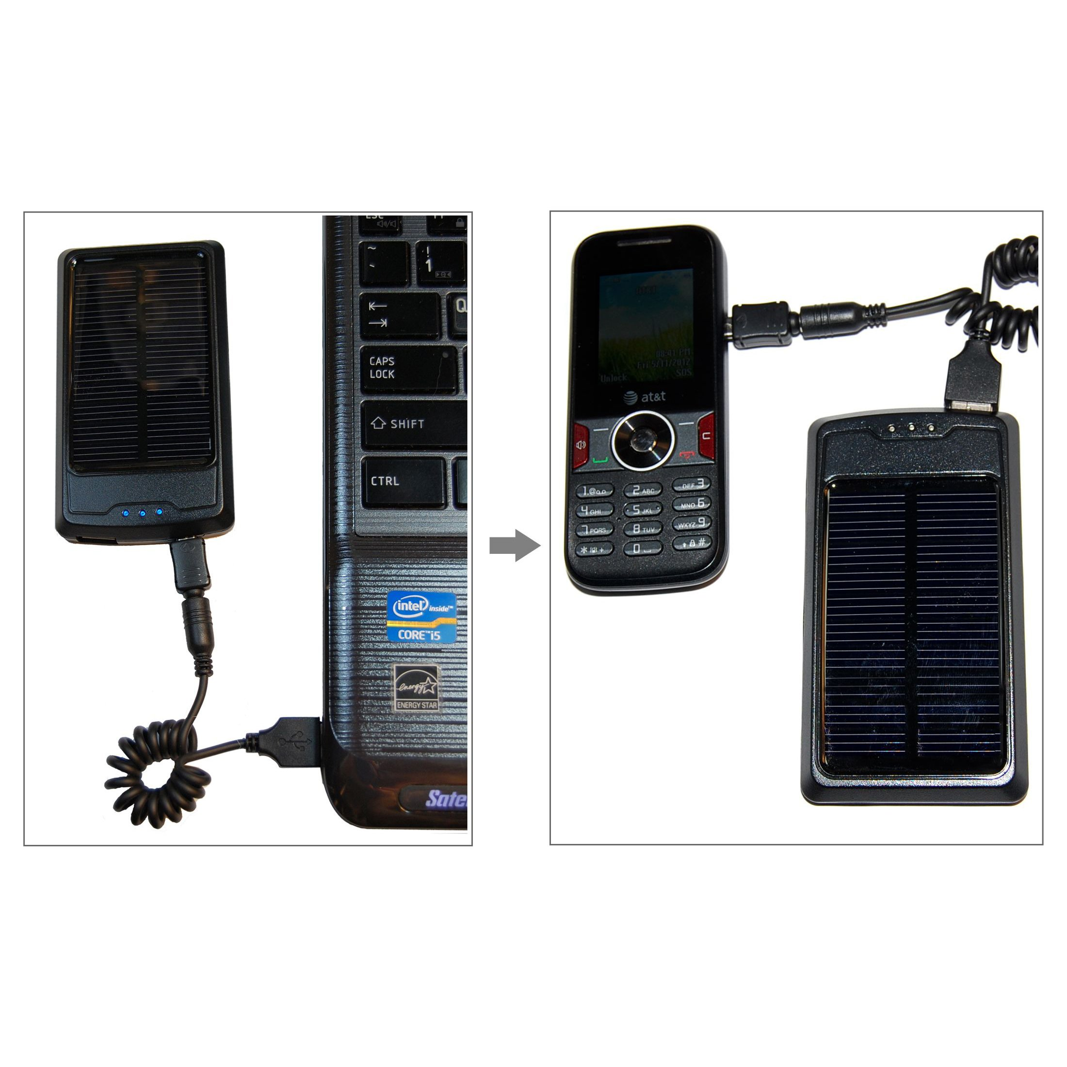 HQRP Portable Slim Power Bank, Battery Charger, AC DC Adapter compatible with Sony Walkman NWZ-E353 NWZ-E354 NWZ-E355 Player + HQRP Solar Power Meter