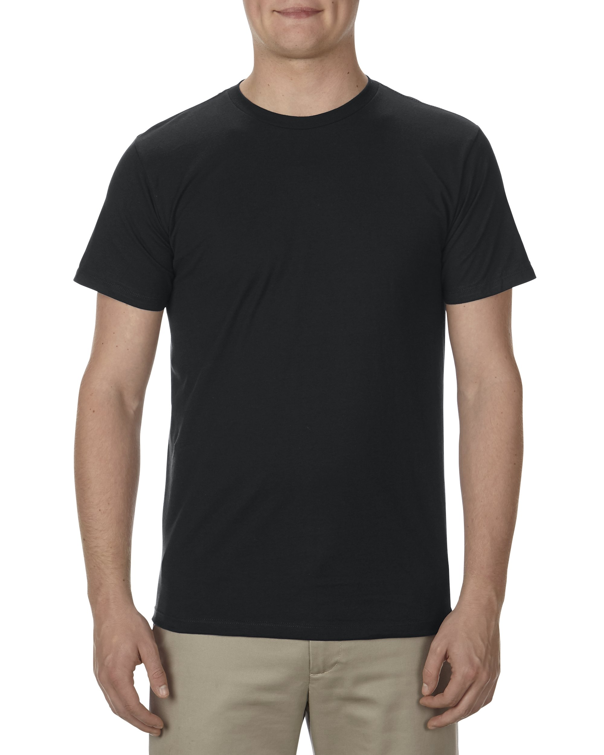 Alstyle Apparel AAA Men's Ultimate Lightweight Ringspun T-Shirt, Black, XX-Large