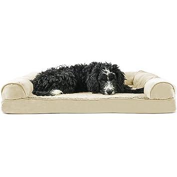 Amazon Com Furhaven Pet Dog Bed Orthopedic Ultra Plush Sofa